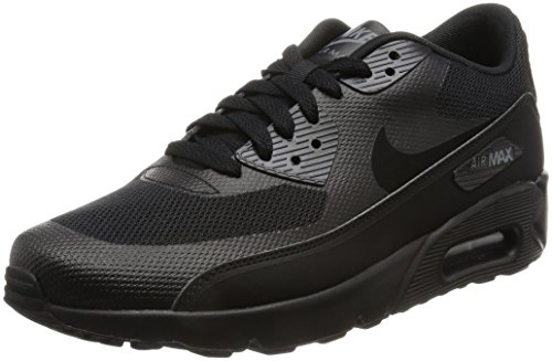 NIKE Air Max 90 Ultra 2.0 Essential, Scarpe da Ginnastica Uomo Nero (Black / Black / Black / Dark Grey)