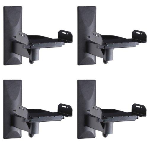 VideoSecu 4 Packs Side Clamp Grip Bookshelf Speaker Wall Mou