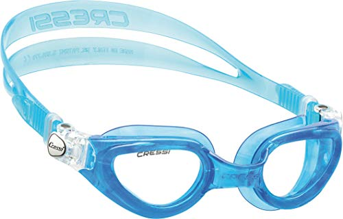 Cressi Adult Swimming Goggles with Flat Lenses for Natural Vision   Right Made in Italy