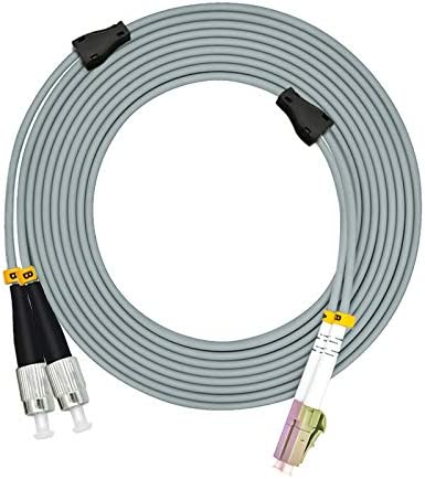 Jeirdus 150M LC to LC Outdoor Armored Simplex 9//125 SM Fiber Optic Cable Jumper Optical Patch Cord Singlemode 150Meters 492ft LC-LC