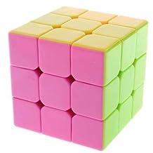US Stickerless Yj Moyu Yulong Plus 3x3x3 Speed Magic Cube Puzzle Bright Pink .HN#GG_634T6344 G134548TY69119