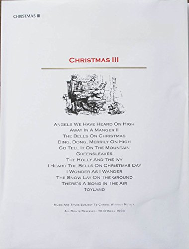 Christmas III Music Pack for TK O'Briens Lap -