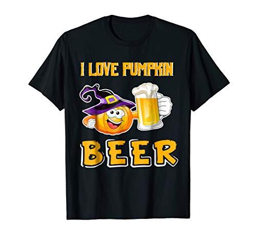 I Love Pumpkin Beer Funny Halloween Costume Tee -