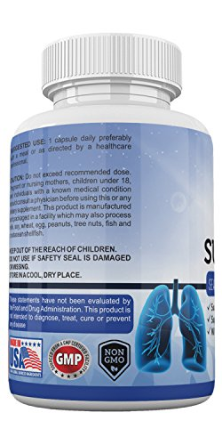 Amate Life Lung Support Dietary Supplements- Herbal Breathing Support- 10 Active Ingredients- Original Formula for Lung Health- Lung Cleanse Formula- Supplement for Bronchial System- 60 Caps- Non GMO by Amate Life (Image #4)