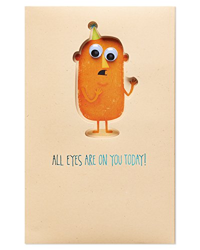 American Greetings Funny Creepy Birthday Card with Foil -