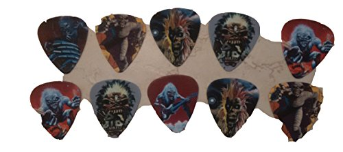 Iron Maiden Eddie Classic Collector Rare Medium Guitar Picks - Set of 10 from Six Different Styles