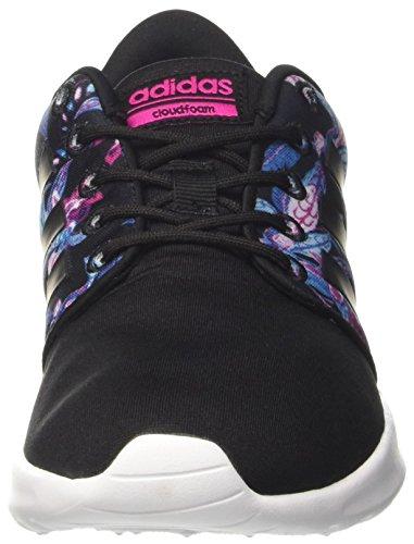 Noir negbas Adidas Basses Sneaker Cloudfoam Racer W Qt rosimp Femme negbas 0nx0FaO