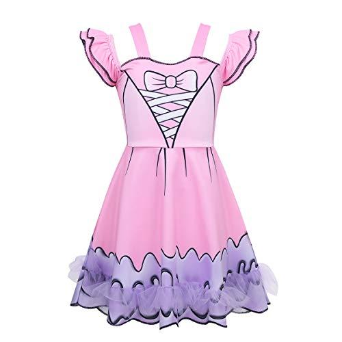 iEFiEL Girls Kids Dance Ballet Tutu Dress LOL Doll Surprised Costumes Halloween Cosplay Dress up Party Princess Tutu 4-5 ()