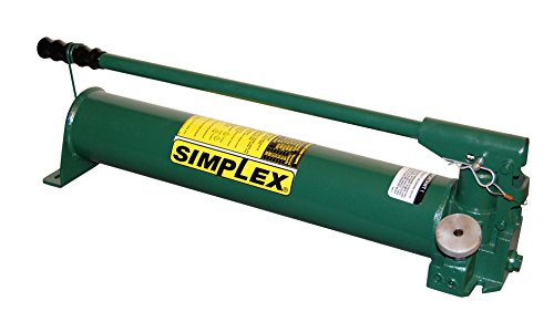 Simplex P140 Heavy Duty Steel Hand Pump for Single Acting Cylinder, 175 cu in Oil Reservoir Capacity, 10000 PSI, Green (Pumps Simplex Hand)