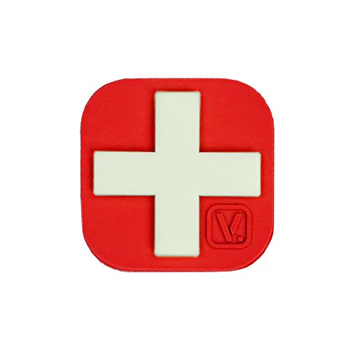 Medical Cross SUPER-LUMEN Glow-In-The-Dark Patch (Red)