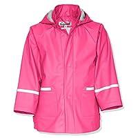Playshoes Childrens Waterproof Reflective Rain Jacket (128 (7-8 Yr), Pink)