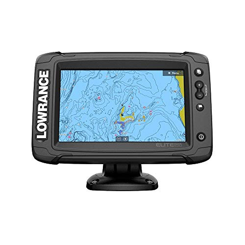 Lowrance Elite-7 Ti2 Fishfinder/Chartplotter Combo with Active Imaging 3-in-1 Transom Mount Transducer & US Inland Chart ()
