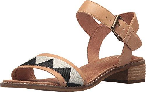 TOMS Camilia Sandals Honey Leather/Black Tribal Womens 7.5