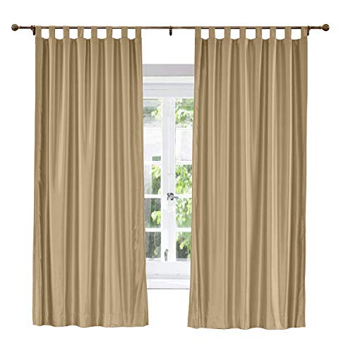 ChadMade Elegant Vintage Polyester Cotton Silk Thermal Insulated Curtain Taupe 50