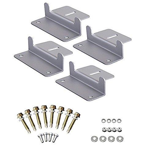 Aluminum Roof Panels (Solar Panel Mounting Z Bracket Set of 4 for RV Roof Boat Mounts Kit Aluminum)