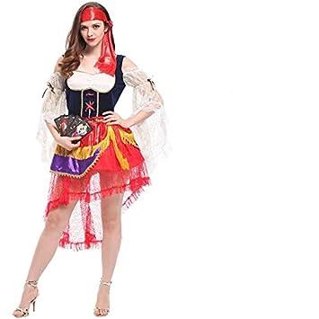 acf5f467a01a thematys® Disfraz de Pirata para Mujer Cosplay, Carnaval y Halloween -  Talla única 160-180cm: Amazon.es: Juguetes y juegos