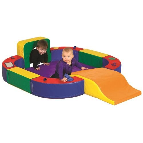 ECR4Kids SoftZone Discovery Center with Tunnel and Slide Playset, Assorted by ECR4Kids (Image #7)