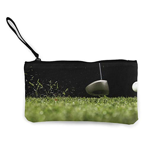 Oomato Canvas Coin Purse Golf Playing Sport Court Cosmetic Makeup Storage Wallet Clutch Purse Pencil -