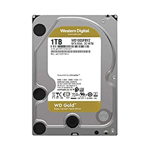 "WD Gold 1TB Enterprise Class Internal Hard Drive - 7200 RPM Class, SATA 6 Gb/s, 128 MB Cache, 3.5"" - WD1005FBYZ"