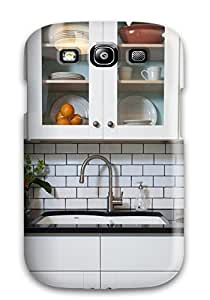 High-quality Durable Protection Case For Galaxy S3(white Modern Kitchen With Subway Tile And Quartz Countertop)