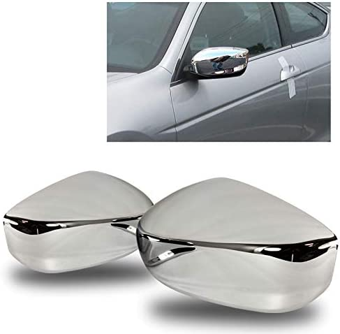 For 2008-2012 Honda Accord Chrome ABS Plastic Side Mirror Cover Cap LEFT+RIGHT