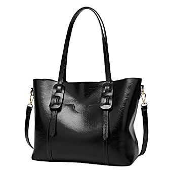 Tote Handbags Leather Bags For Womens Crossbody Top Handle Shoulder Bag Satchel Zipper Outdoor Business OL Casual Black