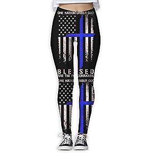 LEDF PANTS Thin Blue Line The Peacemakers Women's Prolific Health Fitness Power Flex Yoga Pants Leggings