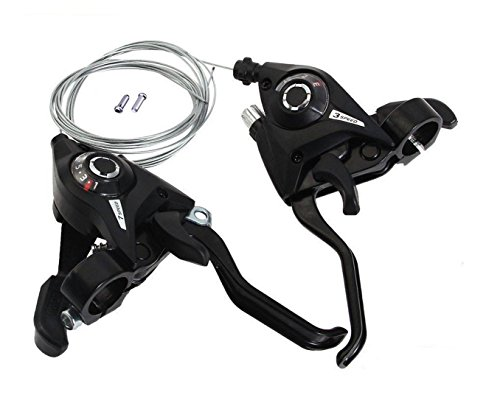 Shimano Altus ST-EF51 3x7 Speed Shifter MTB Bike Brake Lever Combo with Inner Shift Cables Black Only Sold By The Seller88 (3x7 speed) (Cassette Bike Replace)