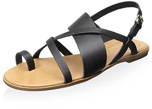 Corso Como Women's Carnival Toe Ring Sandal, Black, 7.5 M US