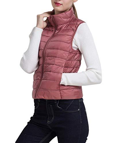 Quilting Manches Vêtements Elégante Gilet Blouson Fashion Saoye Manche Automne Matelassé Uni Confortables Outerwear Warm Pink Sans Casual Hiver Facile En Duvet Femme Oversize Pastel qUwwZvT