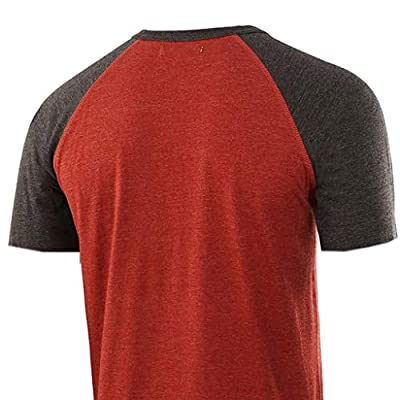 WINJUD Mens T Shirts Color Block Henley Top 3/4 Sleeve Button Fit Slim Crewneck Tee at  Men's Clothing store
