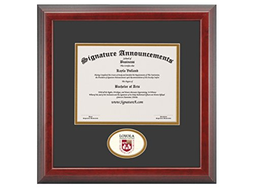 Signature Announcements Loyola-University-Chicago Undergraduate, Graduate/Professional/Doctor Sculpted Foil Seal Diploma Frame, 16