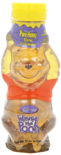(Disney Honey, Winnie the Pooh, 12-Ounce Pooh Bear Bottles (Pack of 6))