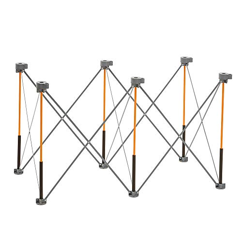Bora Centipede 2x4 Feet Work Stand and Portable Table | Sawhorse Support with Folding, Collapsible Steel Legs, CK6S (2 Bora)
