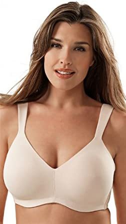 cf3029ba48 Molded Seamless Wirefree Bra by Leading Lady 46C Nude at Amazon ...
