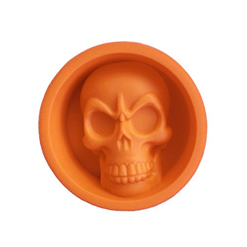 (Brave669 Halloween Party 3D Skull Silicone Cake Pudding Chocolate Ice Tray Mold Tool)
