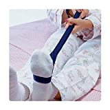 Sammons Preston Soft Flexible Leg Lifter, 34' Long, Leg Strap with Loops for Hands & Feet, Easy to Use Mobility Aid & Leg Riser for Getting In & Out of Beds, Cars, Wheelchairs, Transfer Assist Aid