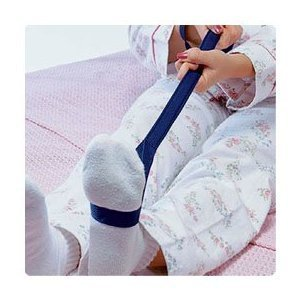 Sammons Preston Soft Flexible Leg Lifter, 34'' Long, Leg Strap with Loops for Hands & Feet, Easy to Use Mobility Aid & Leg Riser for Getting in & Out of Beds, Cars, Wheelchairs, Transfer Assist Aid by Sammons Preston