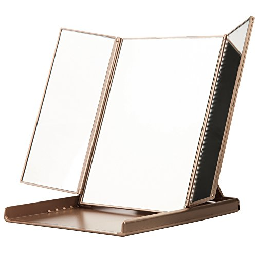 Readaeer Foldable Makeup Travel Mirror with 3 Panels
