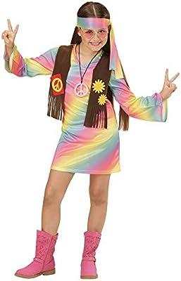 WIDMANN 73357 ? Disfraz de hippie Chica vestido angenähte Chaleco ...