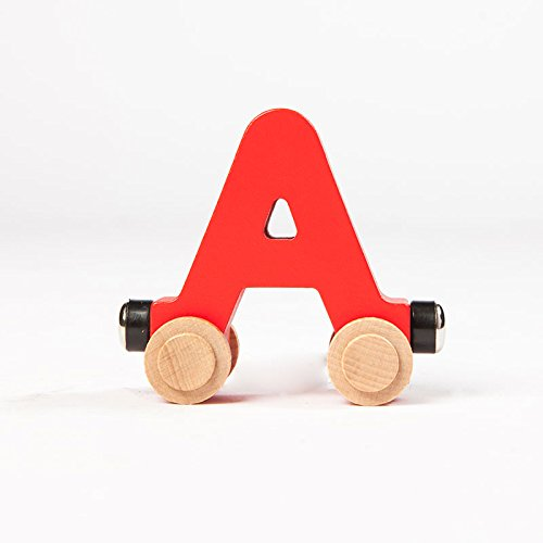 Fat Brain Toys Spell-Your-Name Alphabet Railroad - Letter (Name Train 3 Letters)