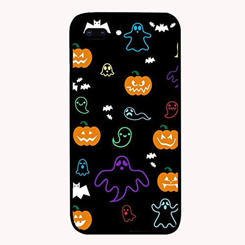 Halloween Ghost Bats Pumpkins Custom iPhone 7/8 Plus Cover Ultra Thin Hard PC Compatible for iPhone 7/8 Plus Case -