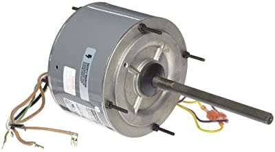 """Fasco D7909 5.6"""" Frame Open Ventilated Permanent Split Capacitor Condenser Fan Motor with Ball Bearing, 1/4HP, 1075rpm, 208-230V, 60Hz, 1.8 amps"""