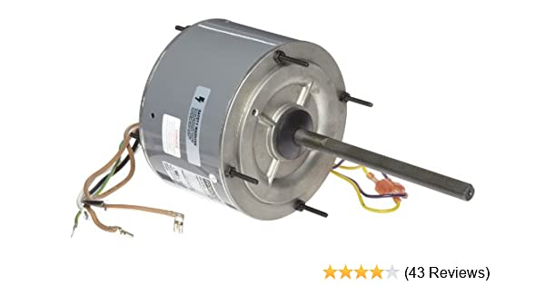 Fasco D7909 5 6 Frame Open Ventilated Permanent Split Capacitor Condenser Fan Motor With Ball Bearing 1 4hp 1075rpm 208 230v 60hz 1 8 Amps