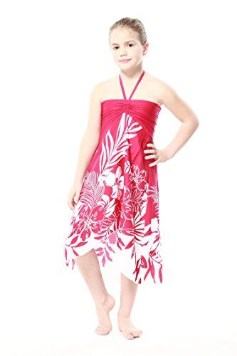 Girl Hawaiian Halter Dress in Pink Indri Size 12 (Clothing Hawaiian For Kids)