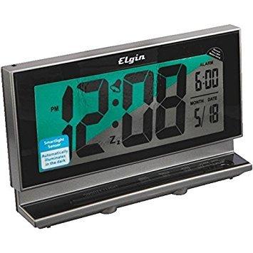 Elgin LCD Battery Operated Alarm Clock