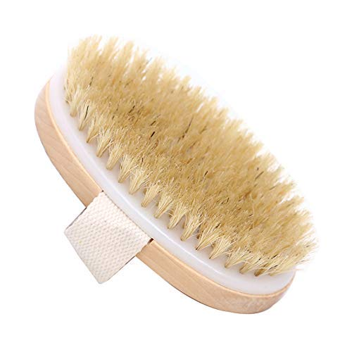 Dry Skin Body Brush - Improves Skin's Health And Beauty - Natural Bristle - Remove Dead Skin And Toxins, Cellulite Treatment, Improves Lymphatic Functions, Exfoliates, Stimulates Blood Circulation from WINBOB
