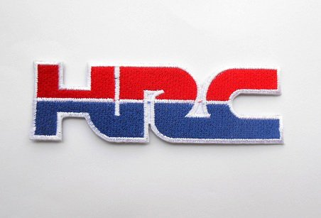 Iron on Patch Biker Small Motorcycles Embroidered Patch Honda Racing Corporation HRC Patch Motorsport Motorbike