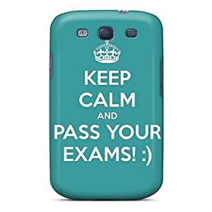 Zheng caseFashion Protective Keep Calm And Pass Your Exams Case Cover For Galaxy S3