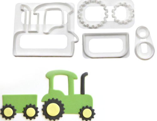 (Tractor with Trailer Cookie Cutter Set)